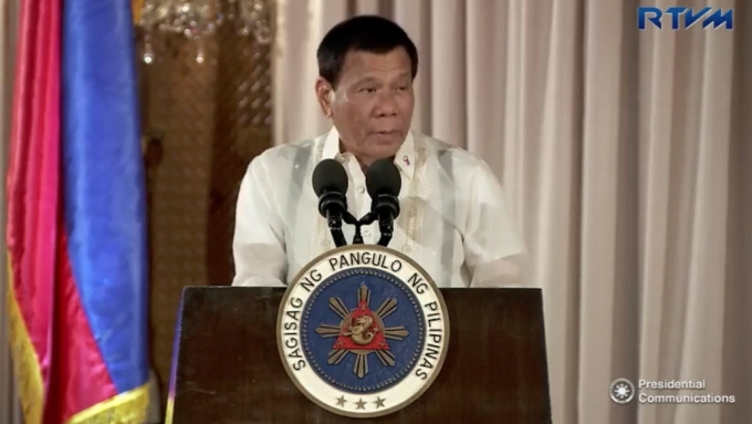 Pres. Duterte delivers shortest speech today