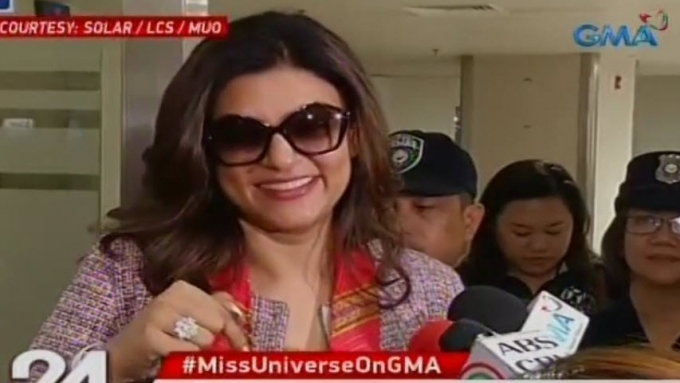 Miss U 1994 Sushmita Sen misses the warm love of Filipinos