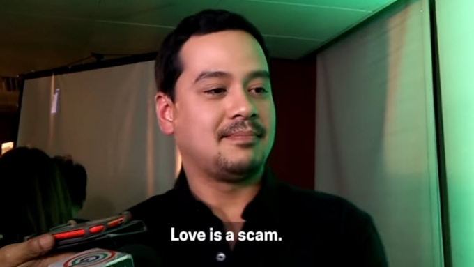 John Lloyd Cruz on love: 'Love is a scam.'