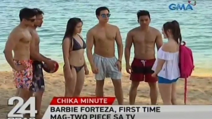 Barbie Forteza in bikini for the first time