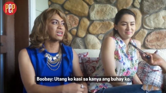 Boobay emotional expressing gratitude towards Marian