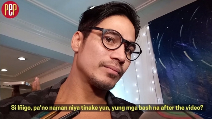 Piolo Pascual on bashers of kissing video with son Inigo