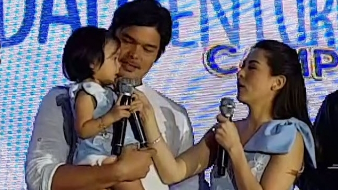 Baby Zia says 'opo' to rough playtime with Daddy Dong