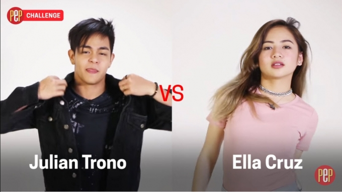 Ella Cruz vs. Julian Trono in an EPIC dance battle