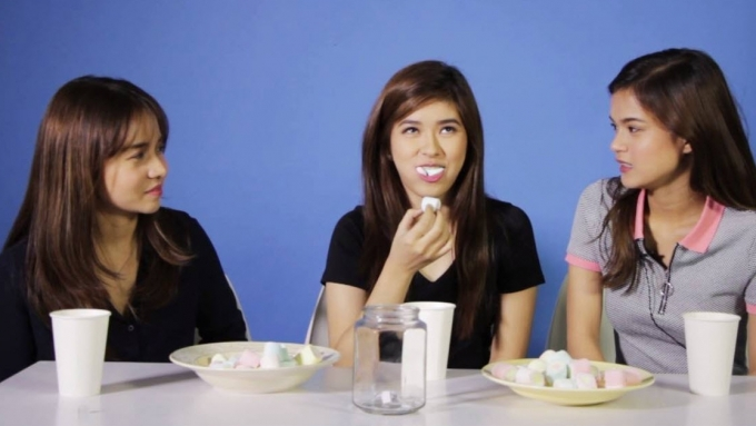 Kristel, Loisa, Maris vs. marshmallows