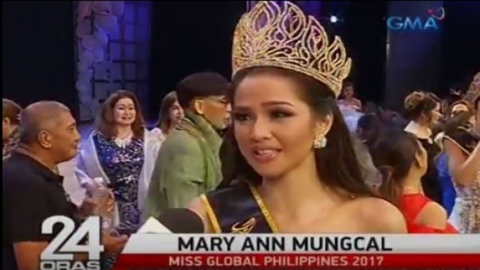 Pampanga beauty Mary Ann Mungcal is new Miss Global PH