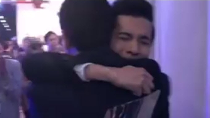 Why is Christian crying and hugging Lloydie in this video?