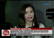 Sunshine Cruz denies division of properties as reason for new case aga