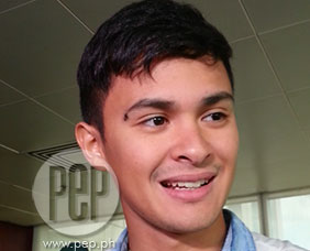 Matteo Guidicelli avoids questions about relationship with Sarah Geron