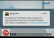 Celebrities tweet congratulations to El Gamma Penumbra for winning fir