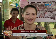 Marian Rivera spends time with abandoned elderly
