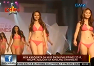 Miss Bikini Philippines 2014 candidates in their swimwear
