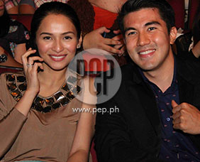 Luis Manzano and Jennylyn Mercado attend the gala night of