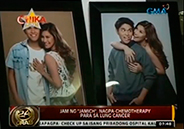 Jam of Jamich undergoes chemotherapy for lung cancer