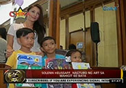 Solenn Heussaff teaches art to over 60 kids