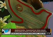 Marian Rivera receives Dove Award-Excellence in Socio-Civic and Entert