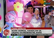 Mark Herras is hands on dad on daughter's first birthday party