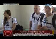 Dingdong Dantes and Max Collins visit typhoon Yolanda victims