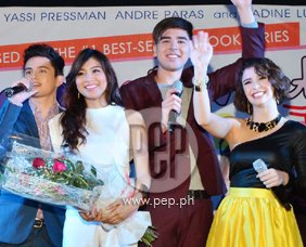 James Reid, Nadine Lustre, Andre Paras and Yassi Pressman thank the fa
