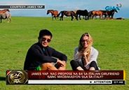 Has James Yap proposed to girlfriend Michela in Italy?
