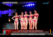 Candidates of Mutya ng Pilipinas 2014 in their swimsuit and evening go