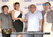 Yasmien Kurdi and Max Collins sign contract with GMA Network