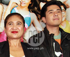 Eugene Domingo and Paulo Avelino at the premiere of