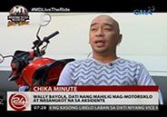 Wally Bayola reveals being involved in a motorcycle accident