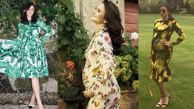 37e54aea6a9b4 Georgina Wilson's maternity dresses in Italy have six-figure price tags