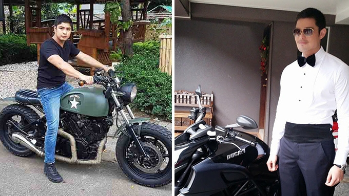 The Hottest Male Celebrities And Their Motorbikes Pep Ph