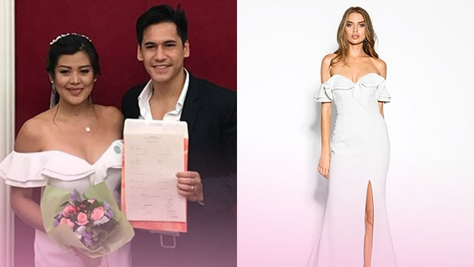 Simple Wedding Dresses Aus: Rich Asuncion Looks Amazing In Her PHP5,000 Wedding Dress