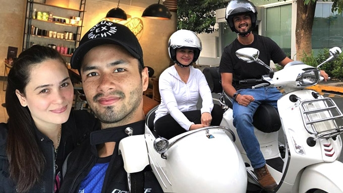 A look at Oyo Sotto and Kristine Hermosa family motorbike