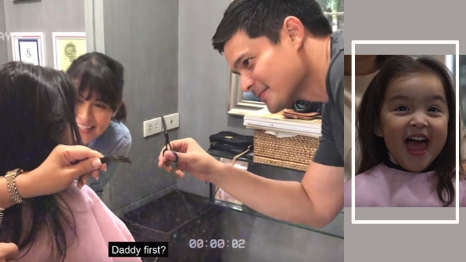 Zia Dantes Gets Her First Haircut Marian And Dingdong Super