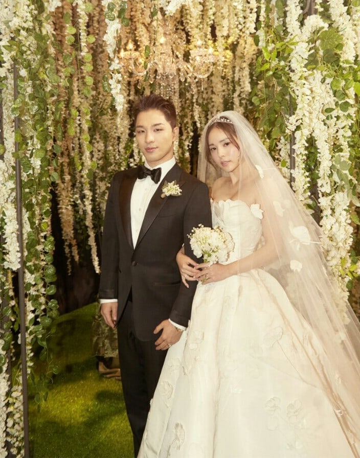 South Korean Actress Min Hyo Rin Is A Blushing Bride In Her Oscar