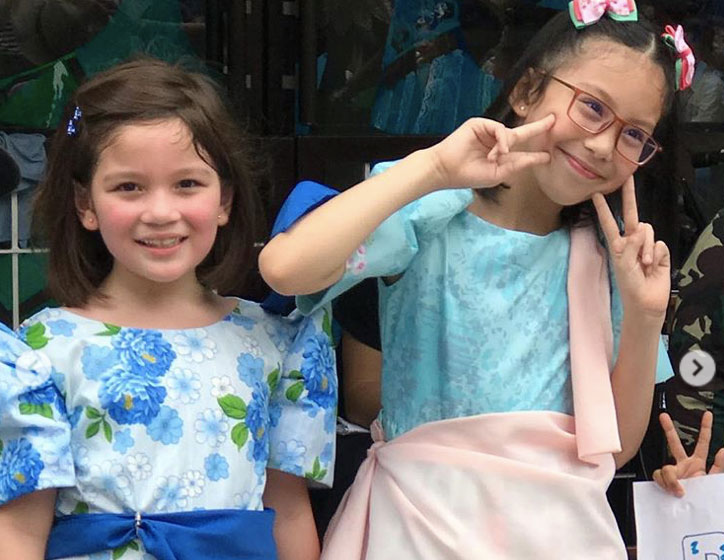 These celebrity kids are adorable in Filipiniana costumes  Jake Ejercito And Georgina Wilson