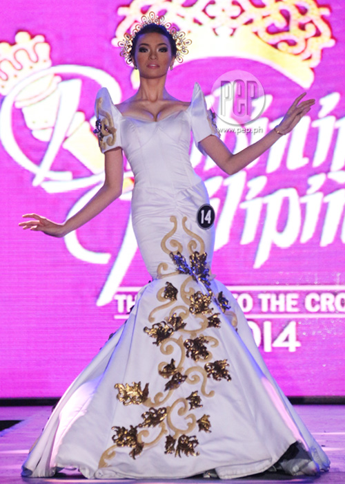 The 40 Binibining Pilipinas 2014 candidates in their National ...
