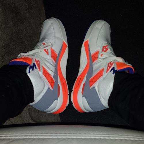 Jake Cuenca rolls around in his Nike Air Trainer SC Huarache 94.