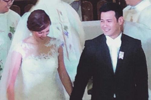 John Prats and Isabel Oli's wedding day