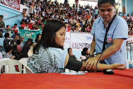 The GMA Kapuso Foundation regularly conducts health services around the  country.