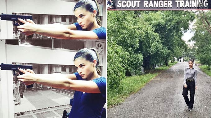 Anne Curtis shows knife fighting skills for action film