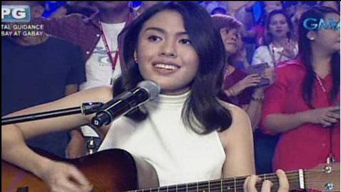 Sharon's daughter Frankie performs Mr. DJ on Eat Bulaga