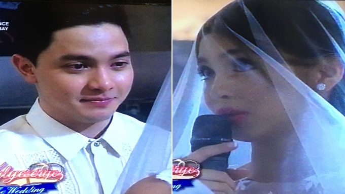 Alden and Maine emotional as they exchange wedding vows