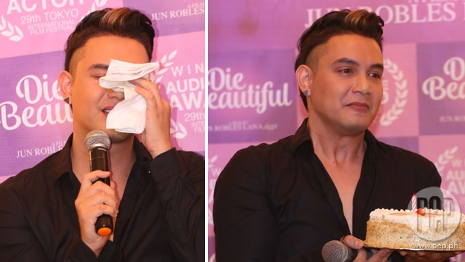 Paolo Ballesteros cries over messages from Maine, Dabarkads