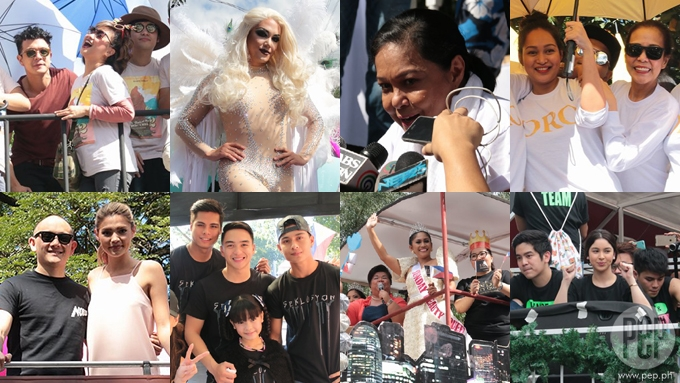 Paolo B, Julia, Nora and others at MMFF 2016 Parade of Stars
