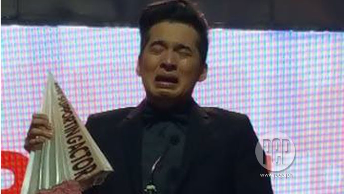 Christian Bables cries over MMFF Best Supporting Actor award