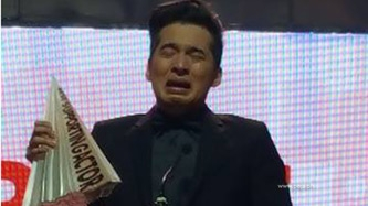 Christian Bables cries over MMFF 2016 Best Supporting Actor award