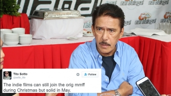 Senator Tito Sotto files resolution for indie film festival separate from MMFF