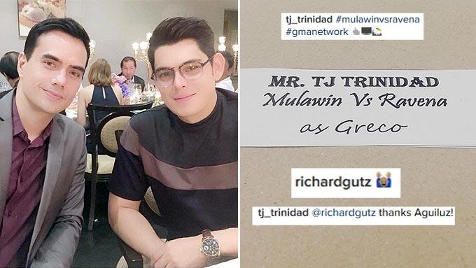 Richard Gutierrez congratulates TJ Trinidad for Mulawin