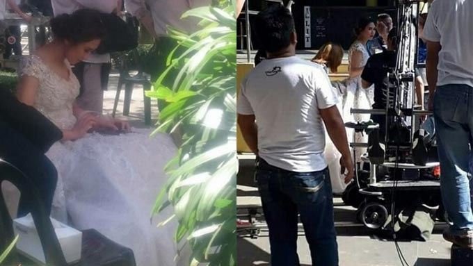 Sarah Geronimo wears wedding gown for movie with John Lloyd