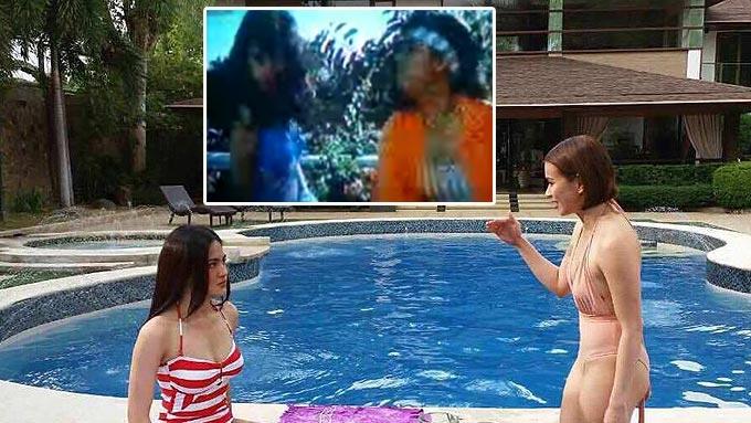 SHOWDOWN: Maricel-Lorna and Julie Anne-LJ in pool scene